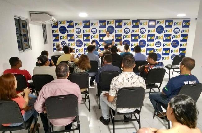 Encontro na sede do partido reuniu dezenas de pré-candidatos a vereador pelo PSD