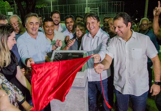 O vereador Marmuthe Cavalcanti, morador do Valentina, participou da inauguração. Foto: Secom-JP